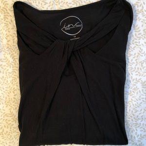 INC women's 1X black shirt